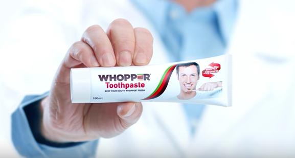 バーガー味の歯磨き粉